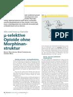 4-benzyloxytramadol - μ—selektive Opioide ohne Morphinanstruktur Alte und neue μ‐Opioide