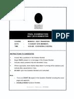 MDB3033 - HEAT TRANSFERS