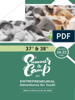 37th and 38th Summer Camp on Entrepreneurial Adventures for Youth