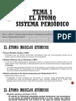 Tema 1-Estructura Atómica, Configuración y Tabla Periódica 2018-19
