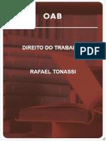DIREITO DO TRABALHO - RAFAEL T O N A S S I