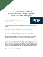 DAAE2011 Intro to Visual Communication Design (Online) Quiz 3