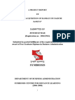 Project Report on Acquistion of Ranbaxy by Daiichi Sank Yo 2003