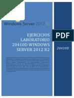 EJERCICIOS LABORATORIO 20410D WINDOWS SERVER 2012 R2