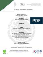 UNIDAD 3 INTEGRACION DEL COSTO DIRECTO