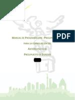 Manual para la programacion-Presupuestacion para la formulacion del Anteproyecto de Presupuesto de Egresos 2014