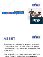 ASSET MANAGEMENT (Supply Officer)