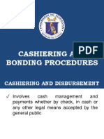 CASHIERING & BONDING PROCEDURES    (Cashier)