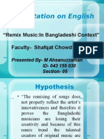 Presentation on English 105