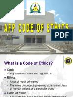 b. AFP Code of Ethics