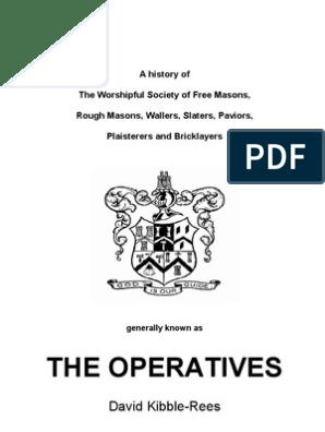 Operatives | Freemasonry | Masonic Lodge