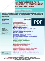 Formation Continue Initiation a Electrochimie Pour Salaries Industrie Traitement de Surface