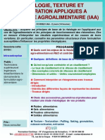 Formation Continue Rheologie Appliquee Industrie Agroalimentaire IAA