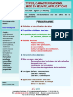 Formation Continue Les Latex Types Caracterisation Formulation Mise en Oeuvre Applications