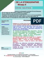 Formation Continue Pratique de La Stenographie Niveau 2