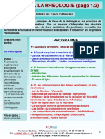 Formation Continue Initiation Rheologie Appliquee