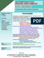 Formation Continue Initiation Aux Statistiques Utiles Au Laboratoire Et en Fabrication