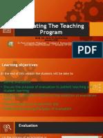 evaluating the teaching program