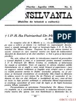 Revista Transilvania martie-aprilie 1939