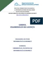 Ghid LICENTA - Informatica Economica 2019