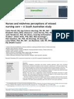 Nurses n midwive preseption on missed nurses care 2015