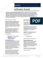 Governmental bodies for certification