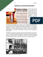 SOBRE LA II REPÚBLICA SIGNIFICADO HISTORICO