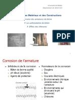 corrosion des armatures du béton- Carbon + Chlorure