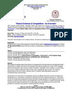 Computational Natural Sciences Lecture Notice HCU