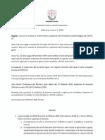 Liguria, ordinanza su Covid-19 del 23 febbraio 2020