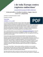 Científicos de toda Europa contra los Disruptores Endocrinos