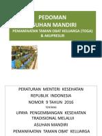 1. PEDOMAN ASUHAN MANDIRI TOGA & KETERAMPILAN KEMKES RI.ppt