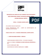 INSCRIÇÕES DOS CARROS DE AÇO CARBONO PARA PASSAGEIROS RFFSA - 5ª DIVISÃO CENTRO OESTE - 2