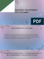 ORGANIZACIONES VOLUNTARIAS EN COLOMBIA teorias 2019