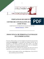 PORTAFOLIO INSOLVENCIA ECONOMICA PERSONA NATURAL NO COMERCIANTE