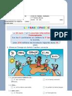 La Francophonie exercices pour la clase