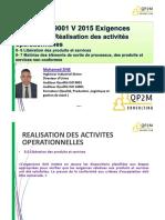 ISO 9001 V 2015 - Réalisation 8-6et 8-7 Libéra