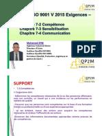 ISO9001V2015 - Support 7-2 & 7-3 & 7-4
