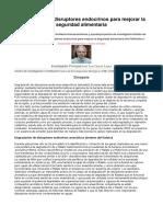 Eliminación de disruptores endocrinos para mejorar la seguridad alimentaria