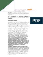 Folha de S.Paulo - O caminho da revelação do nome - 07_10_2001