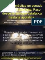 Barrera Pseudo Dionisio Areopagita Hermenéutica