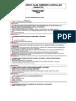 Preguntas Examen de Manejo Panama 2020
