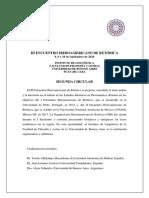 Segunda Circular III Encuentro Iberoamericano de Retórica