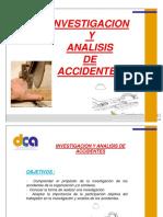 INVESTIGACION Y ANALISIS DE ACCIDENTES