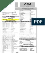 F-16C Quick Checklist