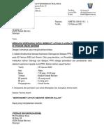 surat latihan olahraga di stadium