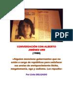 Conversación Con Alberto Jiménez Ure (1980) Por Livio Delgado