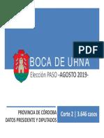 BOCA DE URNA  PASO 2019  CORTE 2