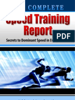 Complete Speed Training Report