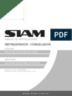 Manual Siam línea Heladera HSI-CC13B - HSI-CC33B - HSI-CC33X - HSI-FC23B - HSI-FC23BD - HSI-FC23XD